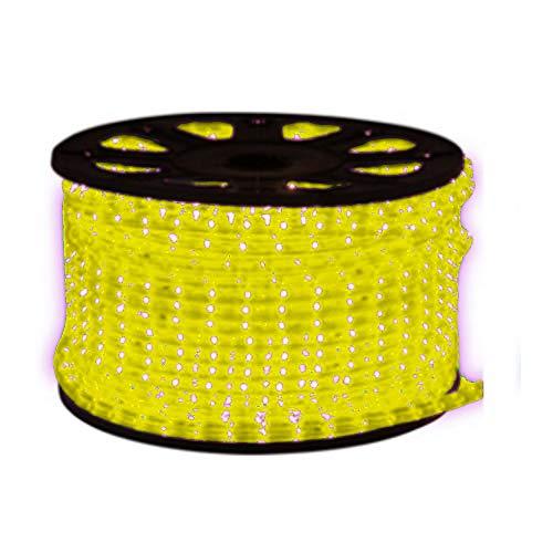 Guirnalda de luces LED (50 m, 50 m, incluye cable), color amarillo