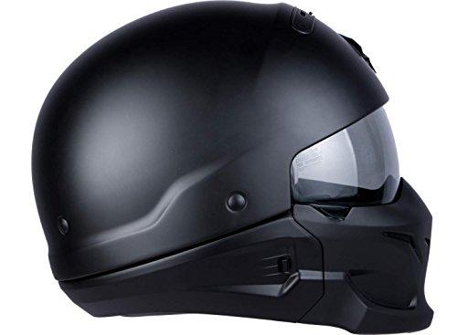 Scorpion Motorradhelm Exo Combat, Schwarz, Größe M - 8