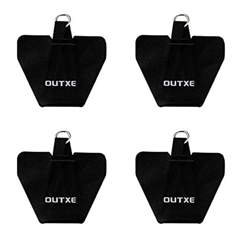 OUTXE Universal Phone Tether Tab, 4 Pack Phone Lanyard Replacement Part for Phone Strap (4 PCS)- Black