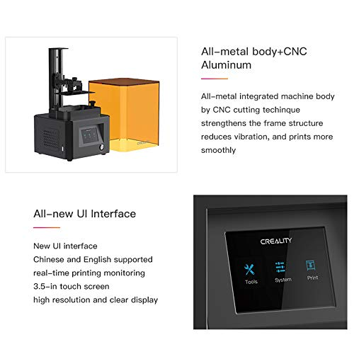 """Creality LD-002R HD LCD Resin 3D Printer – EU Plug Multi-A"" - 7"