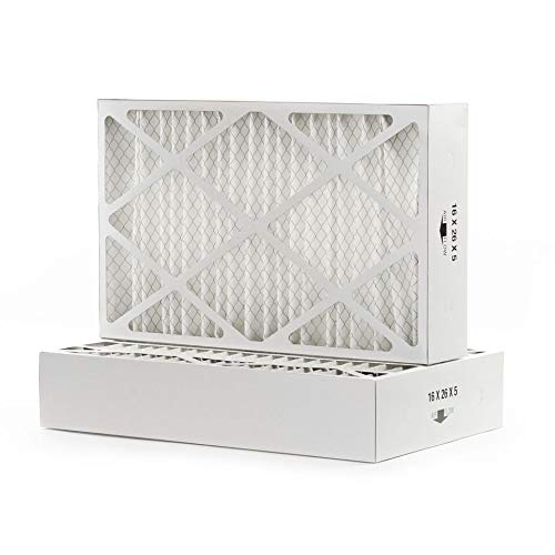 """Filters Fast Compatible Replacement for White Rodgers Furnace Filter F825-0548 16"""" x 26"""" x 5"""" (Actual Size: 16 1/8"""" x 25 3/4"""" x 4 7/8"""") 2-Pack MERV 8"""