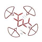 chiwanji Hélices de 4 Piezas para Cuadricóptero Sin Escobillas HS700 con Jaula Protectora de Cubierta Protectora de Hoja - Negro, Blanco Y Rojo para Elegir - Rojo