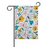 Bennigiry Bandera Decorativa de jardín de Doble Cara con diseño de Tangram, 12 x 18 Pulgadas, 12x18(in)