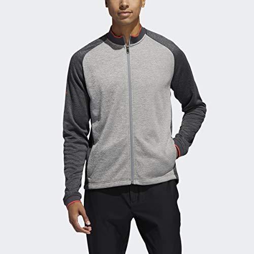 adidas Herren Midweight Texturierte Jacke, Herren, Jacke, Midweight Textured Jacket, Grau Six/Schwarz/Grau Three/Grau Two, Small