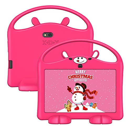 Kids Tablet, 7 inch Android 9.0 GMS Tablet for Kids, 2GB RAM 16GB ROM Childrens Tablet with WiFi, Parental Control Tablets, Kid-Proof, Pink