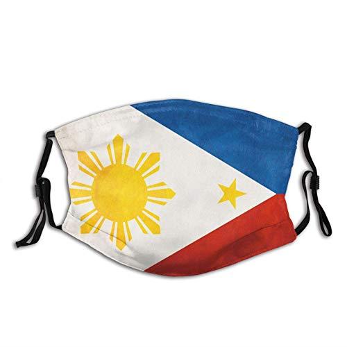 Bandera de las Filipinas Cara M-A-S-K con 2 filtros, reutilizable lavable unisex al aire libre Bandana bufanda