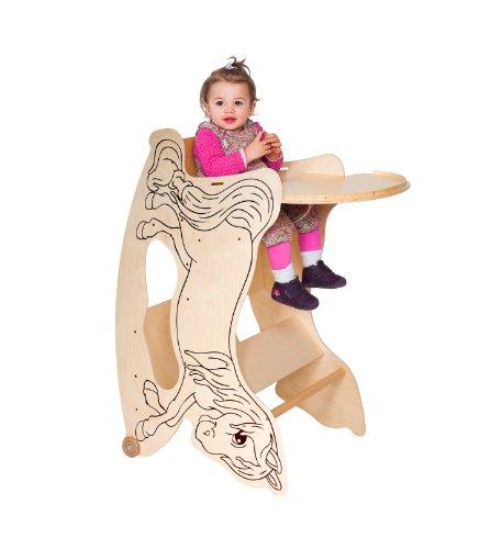 TRIHORSE ® Baby Kinderhochstuhl 3 in 1 Hochstuhl, Schaukelpferd, Spieltisch