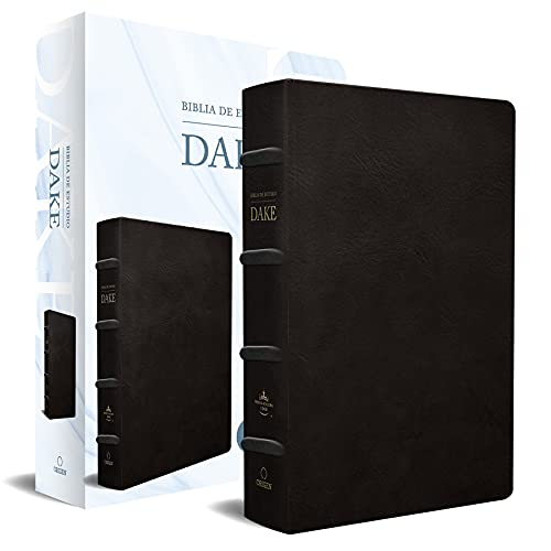 Rvr 1960 Biblia de Estudio Dake, Tamaño Grande, Piel Negra / Spanish Rvr 1960 Dake Study Bible, Large Size, Black Leather