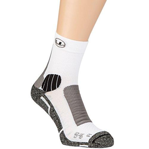 Ultrasport Running Chaussettes de course Mixte Adulte, Noir/Blanc, 47-50