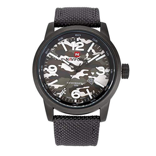xisnhis schöne Uhren naviforce9080 Tarnung männer Camouflage - leinwand auf Quarz männer gucken