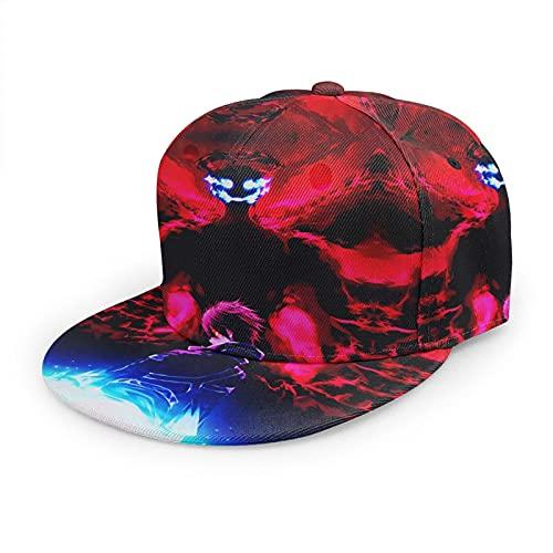 Sword Art Online Baseball Cap, Solid Flat Bill Adjustable Snapback Hats Unisex, Perfect for Outdoor Activities Black