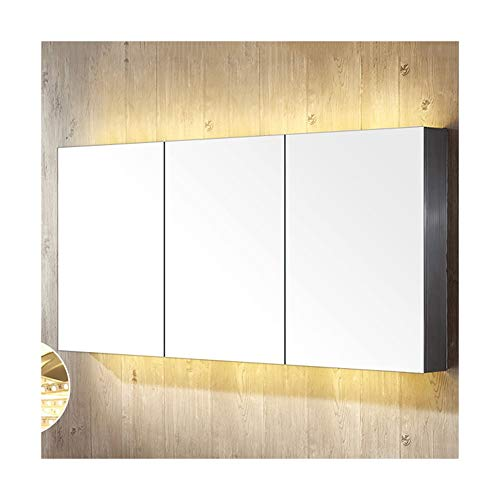 Buy Bargain DZWLYX Bathroom Mirror Bathroom Mirror Cabinet, Stainless Steel Bathroom Cabinet, with S...