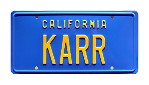 Celebrity Machines Knight Rider | Knight Automated Roving Robot's '82 Trans Am | KARR | Metal Stamped Vanity Prop License Plate