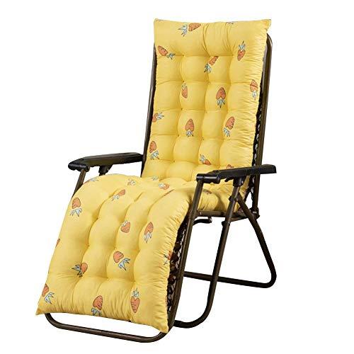 Cojín para tumbona, tumbona, cojín para silla, funda gruesa para uso exterior (no incluye sillas), 155488 cm 61,02 * 18,9 * 3,15 Zoll Color amarillo.