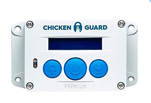 ChickenGuard Premium Automatic Chicken Coop Door Openers, Timer/Light Sensor, Batteries, Lifts Pop Hole Door up to 1kg