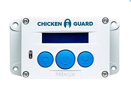 ChickenGuard Premium Automatic Chicken Coop Door Openers, Timer/Light Sensor, Batteries, Lifts Pop Hole Door up to 1kg