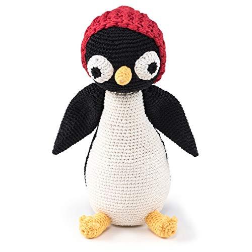Penguin. Jouet au crochet