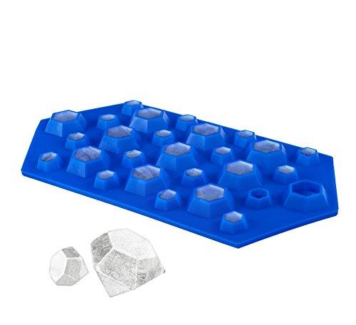 FuKiPro Funky Kitchen Products Eiswürfelform Diamant - Silikoneiswürfelform - für 27 Eiswürfel in Diamantenform
