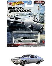 ホットウィール(Hot Wheels) ワイルド・スピード プレミアム - ファスト・スーパースターズ'70 シェビー・ノヴァ SS GRK50 シルバー