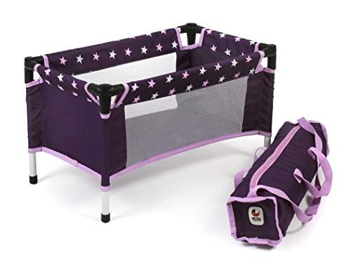 Bayer Chic 2000 652 71 Reisebett, Puppenbett für Puppen bis 50 cm, Stars lila