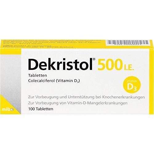 Dekristol 500 I.E. Tabletten bei Vitamin-D-Mangelerkrankungen und zur unterstützenden Behandlung der Osteoporose, 100 St. Tabletten
