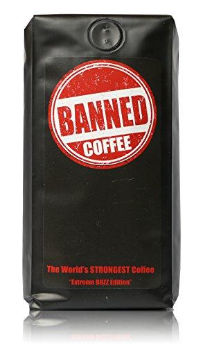 Banned Coffee Whole Bean Strongest Coffee | Medium Dark Roast - 1 LB Bag