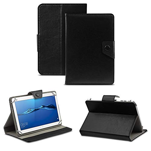 NAUC Schutz Hülle Huawei MediaPad M1 M3 8 Zoll Tablet Tasche Schutzhülle Hülle Cover, Farben:Schwarz