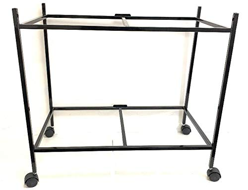 """Mcage 2-Shelf Stand for Two of 30"""" x 18"""" x 18 Breeding Flight Cages, Black"""