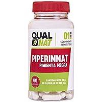 Suplemento alimenticio de piperina, ayuda a adelgazar con una dieta saludable – Propiedades antioxidantes, quema grasas y saciantes - Extraído de la pimienta negra, 100% natural – 60 cápsulas