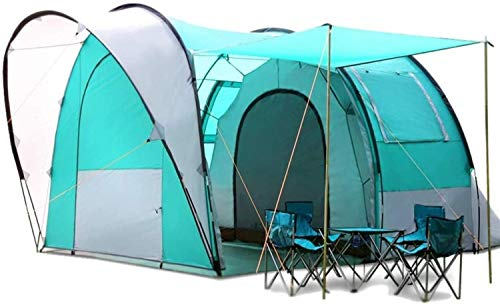CHHD Tent for Camping Rainstorm Tunnel Big Tent Outdoor Self-driving Camping Camping Tent 5-6 People