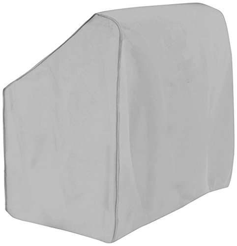 Boat Center Console Cover, 600D Marine Grade Polyester Canvas, Waterproof, Grey (Large)
