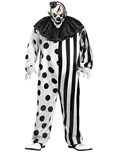 "Fun World Men's Killer Clown, Multi, Plus Size up to 6'2"" / 300 lbs"