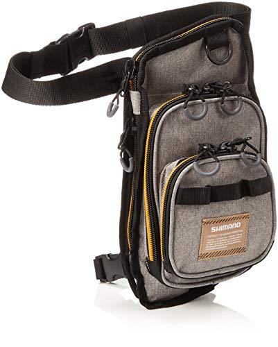 SHIMANO Angeltasche Spinntasche - Tasche Rungun Leg Bag Beige L