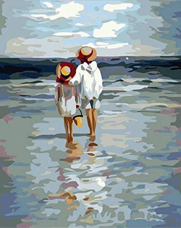 Paint by Numbers Kits für Erwachsene Kinder Senioren Junior Anfänger Acrylics DIY Oil Painting Kits - See The Sea Mit Rahmen 40x50cm B07NQL9B9G | Große Klassifizierung