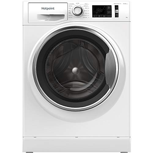 Hotpoint NM11 945 WC A UK N Freestanding Washing Machine, Steam Pack Function, 9KG, 1400RPM, White