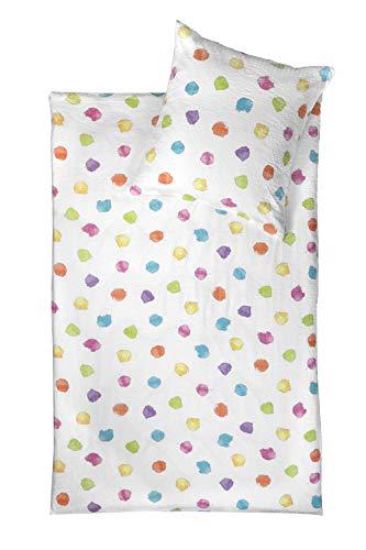 jjilda-tex Seersucker-Bettwäsche 100% Bio-Baumwolle Sommerbettwäsche Confetti 135x200 cm Ökotex-100 mit Reißverschluss (135 x 200 cm)