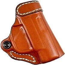 DeSantis 155TA37Z0 Gunhide, 155 Criss-Cross, Belt Holster, Right Hand, Tan Leather, Fits Sig P938, Kimber Micro 9mm, N/A