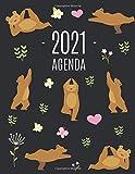 Orsi e Yoga Agenda 2021: Inizia Ora e Dura Fino Dicembre 2021 | Pianificatore Settimanale 2021 (12 Mesi)