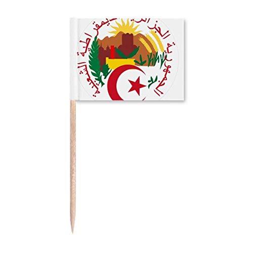 Algiers Algerien National Emblem Zahnstocher Flaggen Marker Topper Party Dekoration