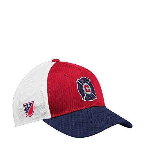 adidas Chicago Fire Hat Authentic Structured Adjustable Trucker Hat
