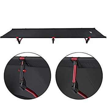 ALPIDEX Lit de Camping Ultra-léger, Charge Max. jusqu'à 120 kg, Seulement 1 820 g, Sac de paquetage Inclus, Garde au Sol de 16 cm, Dimensions minimales de l'emballage