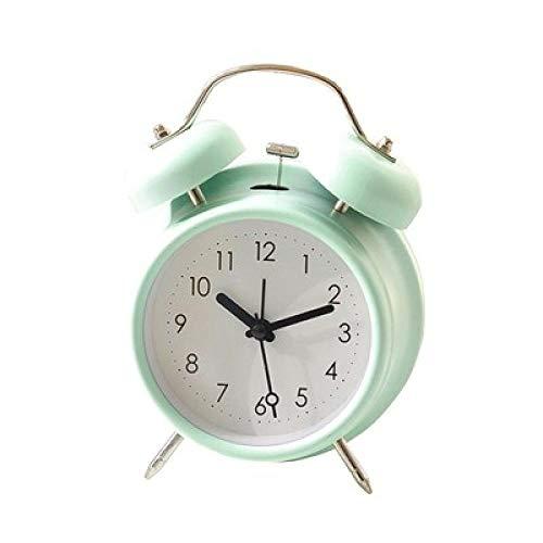 FPRW eenvoudige retro dubbele bel wekker, mute en prachtige ringtone bureauklok, creatieve persoonlijkheid nachtkastje wake-up klok, 5 inch