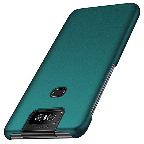 anccer Cover ASUS Zenfone 6 ZS630KL, [Alta qualità] [Ultra Slim] Anti-Scratch Hard PC Case Custodia per ASUS Zenfone 6 ZS630KL (Ghiaia Verde)