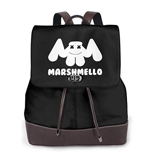 Marshmello 37 リュックサック レディース 高級本革 レザー バック 女子 人気 通学 OL 通勤 旅行 防撥水 軽量 手提げバッグ,ブラック,One Size