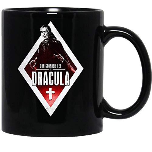 N\A Drácula Christopher Lee Movie Horror Cinema Hammer Peter Cushing Taza de café Divertida para Mujeres y Hombres Tazas de té Té