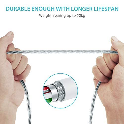 Syncwire iPhone Ladekabel Lightning Kabel - 2M [Mfi Zertifiziert] Apple Kabel für iPhone 12/12 Pro/12 Pro Max/12 mini/SE2/11 Pro Max/11 Pro/11/XS Max/XS/XR/X/8/8 Plus/7/7 Plus/6S/6 Plus, iPad - Weiß