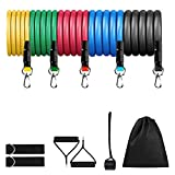 【Package Included】5x Elastic Resistance Bands; 1x Door Anchor; 2x Cushioned Handles; 2 x Ankle Straps; 1x Storage Bag. 【5-Level Resistance Ropes】Black for 30lbs, Blue for 25lbs, Red for 20lbs, Green for 15lbs, Yellow for 10lbs. You can combine any of...