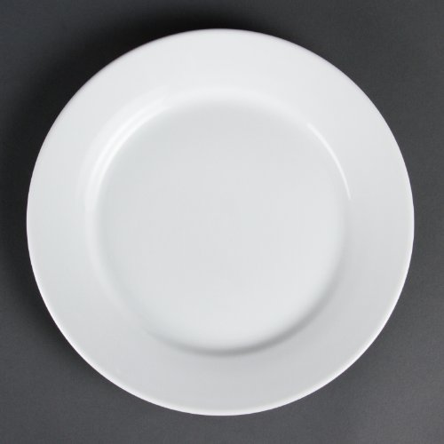 Olympia Hantelscheiben mit breitem Rand Haushaltsgeräte 250 mm 250 (ø) mm/10-Zoll. Weiß. Stückzahl: 12.