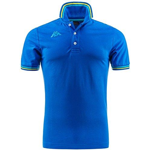 Kappa Herren Poloshirt Maltax Kurzarm Retro Classic Gr. S, königsblau