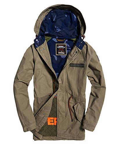 Superdry Herren Aviator Rookie Parka Jacke, Grün (Troop Khaki OY3), X-Large